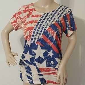 Kate&Henry Patriotic Top New With Tags